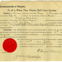 Respite of Virginia Christian granted on July 26, 1912