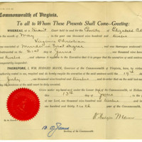 Respite of Virginia Christian granted on June 13, 1912