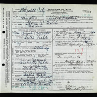 Death Certificate of George W. Fields (died August 19, 1932)
