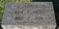 Gravestone of E.E. Montague (1862-1919), St. John's Church Cemetery, Hampton, Virginia