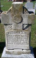 Gravestone of George Keesee Vanderslice, Jr. (1906-1912), St. John's Church Cemetery, Hampton, Virginia.