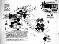 Sanborn Fire Insurance Map of Hampton, Virginia, Title Page, July 1910