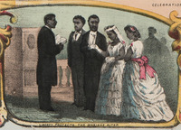 Liberty Protects the Marriage Altar: Detail from The Fifteenth Amendment, Celebrated May 19th, 1870