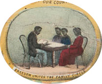 Freedom Unites the Family Circle: Detail from The Fifteenth Amendment, Celebrated May 19th, 1870